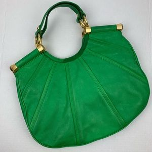 B. Makowsky Green Leather Bag